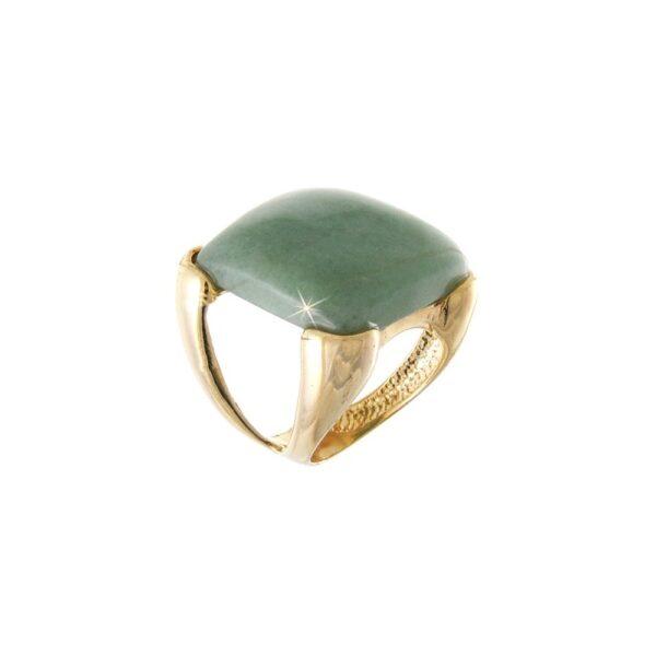 Anel de Pedra Natural Quartzo Verde