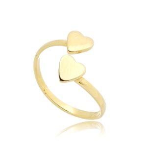 Anel de Falange Dourado com Coração