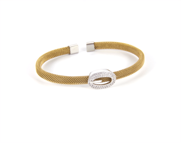 Bracelete Italiano Dourado com Fivela
