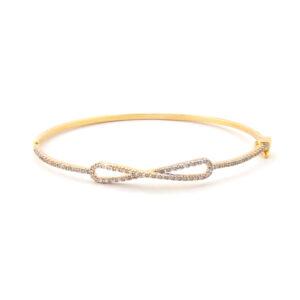 Bracelete com Símbolo do Infinito cravejado em Ouro 18k