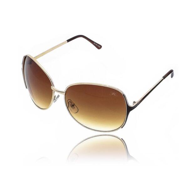 Óculos de Sol Feminino com Detalhes Dourados