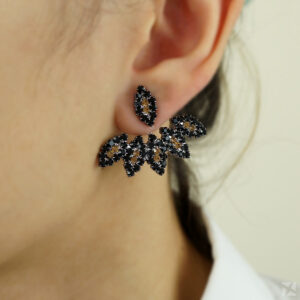Brinco Ear Jacket com Strass