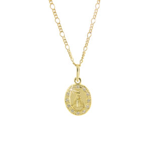 """Colar Medalha de """"Nossa Senhora Aparecida"""" com Zircônias"""