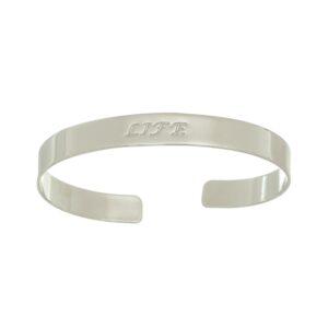 Bracelete Life folheado em ouro branco