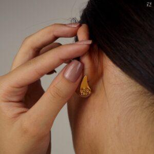 Tarraxa Vírgula para Brinco Ear Cuff Folheada