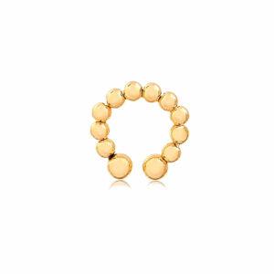 Piercing de pressão de Bolinha folheado a ouro 18k
